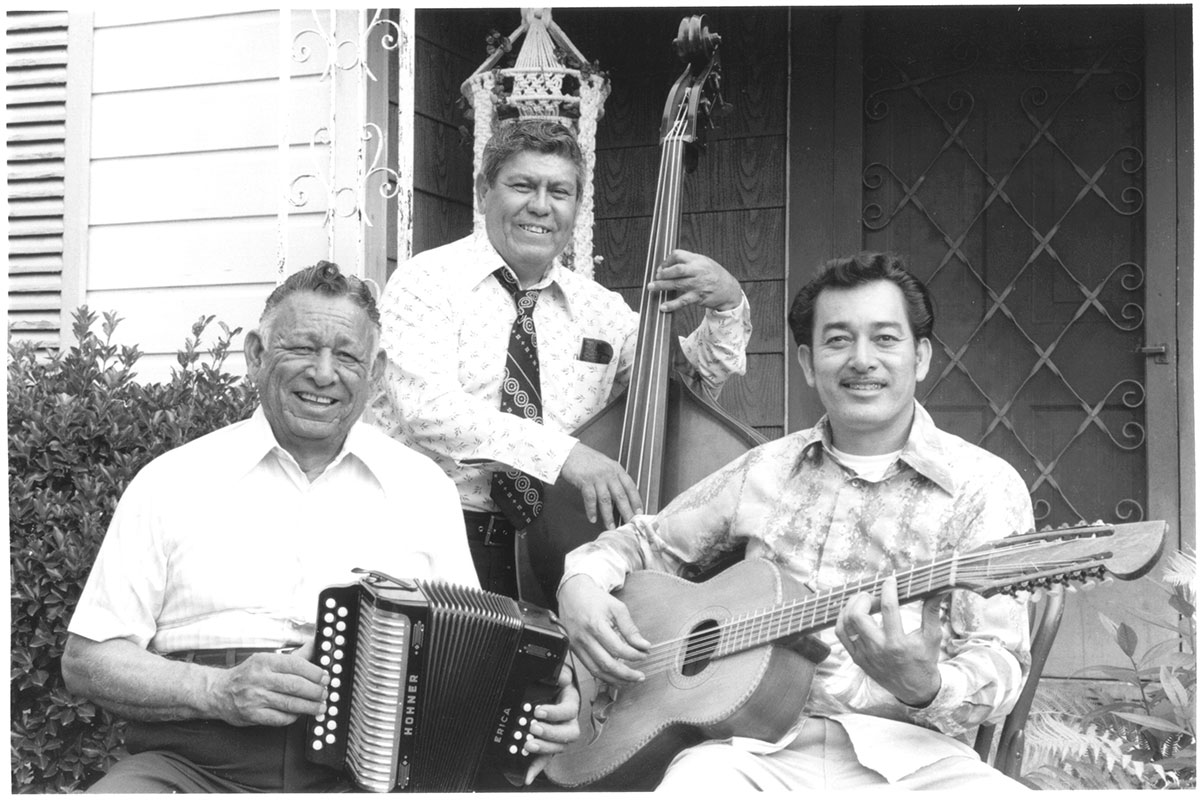 The Jimenez Family, Santiago Sr. and Flaco with Juan Viesca, San Antonio, Texas, 1979