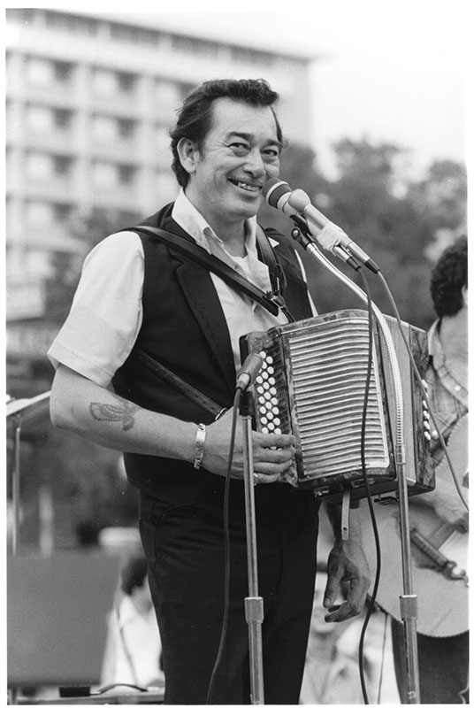 Flaco Jimenez at the annual Tejano Conjunto Music Festival, San Antonio, Texas 1982