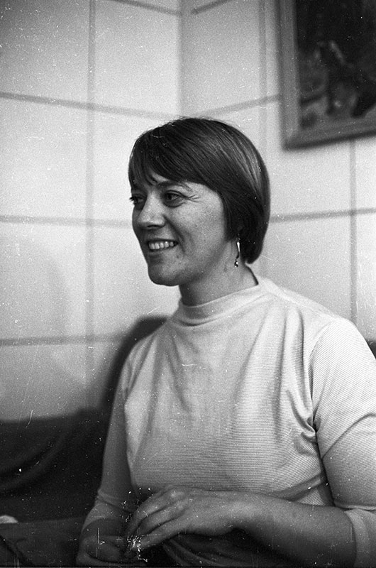 Barbara Dane at a Broadside Magazine concert, New York City, September 1964.