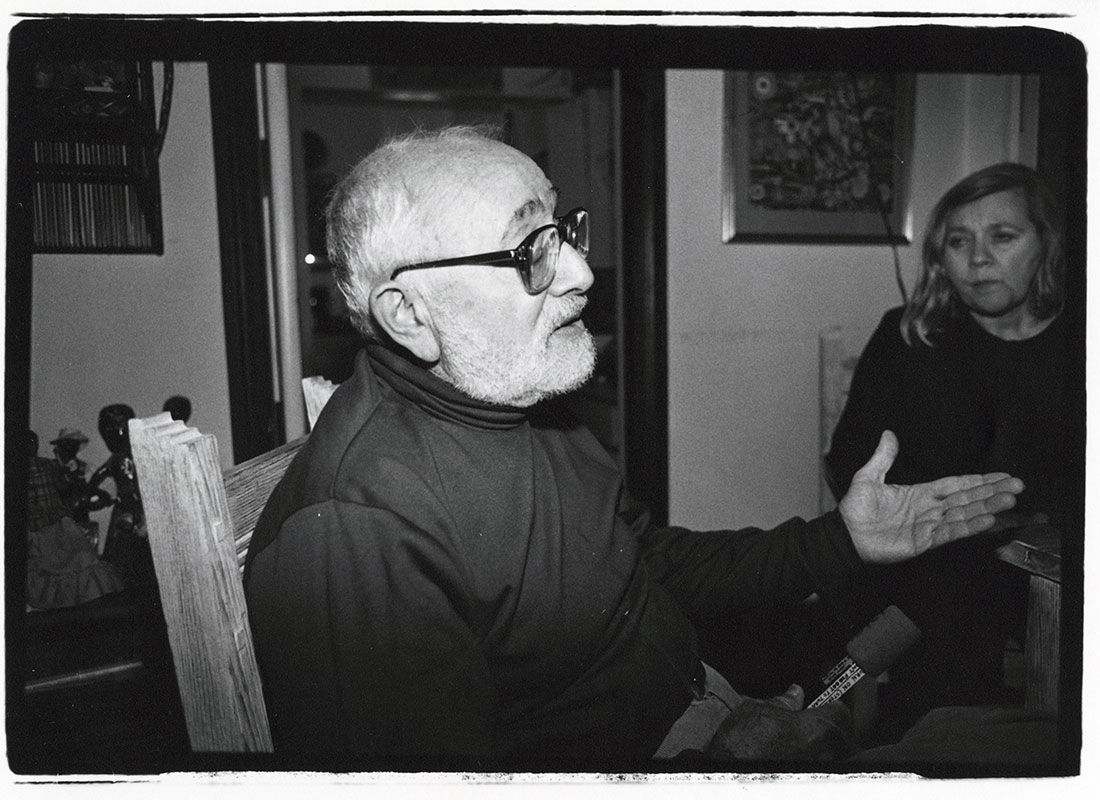 Irwin Silber and Barbara Dane at home, Oakland, California, Dec. 1991