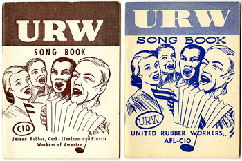 Songbooks for the United Rubber Workers.