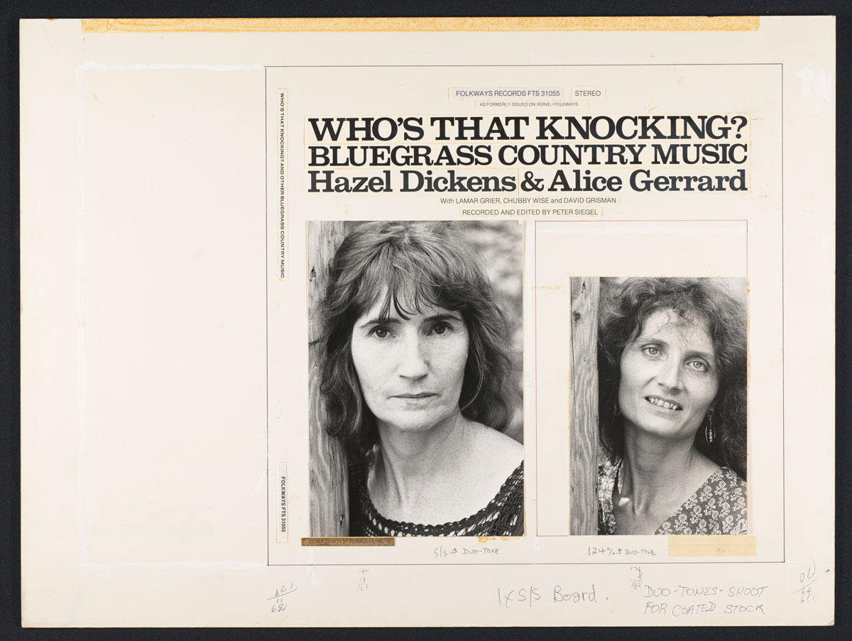 Layout for original LP: <i>Who's that Knocking?</i> (1973)