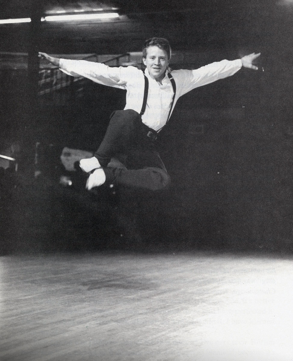 Photograph of dancer Burton Edwards, as featured in Mike Seeger's Talking Feet.