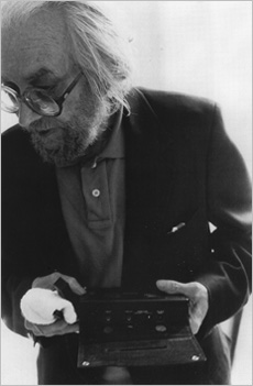 Harry Smith in NYC, 1987.  Photograph by Brian Graham