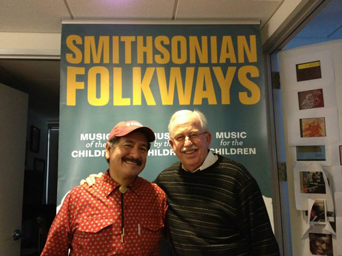 Betto Arcos with Smithsonian Folkways director Daniel Sheehy.