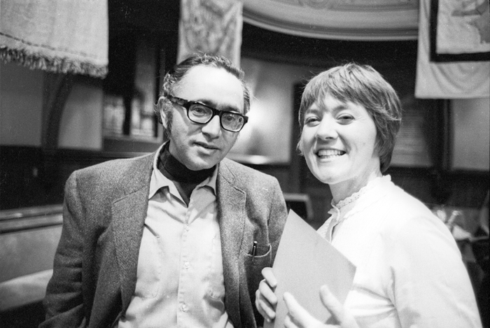Irwin Silber and Barbara Dane, founders of Paredon Records.