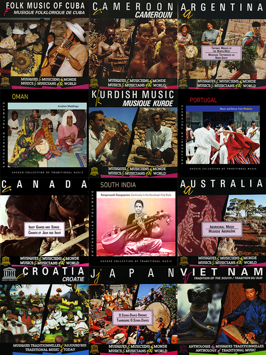 Album covers from the UNESCO Collection of Traditional Music