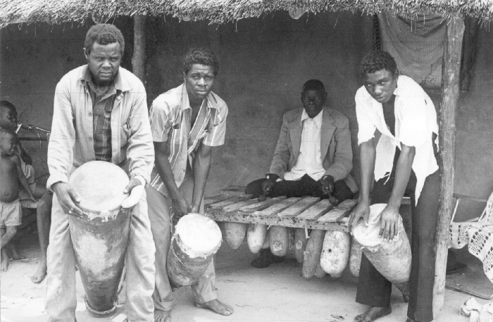 Lozi/Subiya people, Namibia. Silimba xylophone played by Mr. Mului, accompanied by Milupa drums.