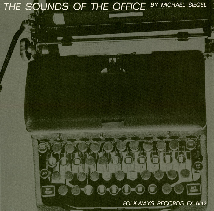 "A manual typewriter dominates the cover, conjuring up the mechanically generated soundscape of a New York office. The shadowy, negative photographic image also uncannily suggests the impending transformation of this ""epitome of everyday life"" into an artifact of the past."