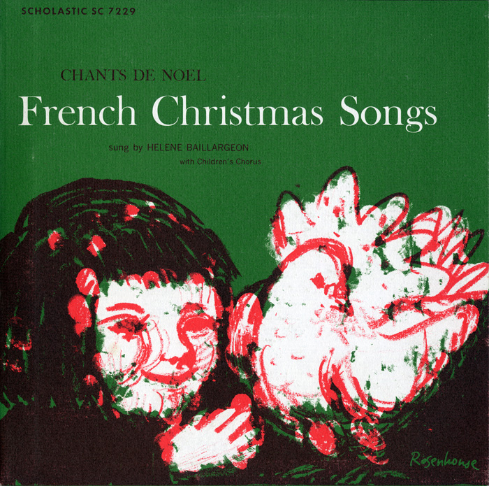 Hélène Baillargeon, French Christmas songs (1956), FW07229 / SC 7229.