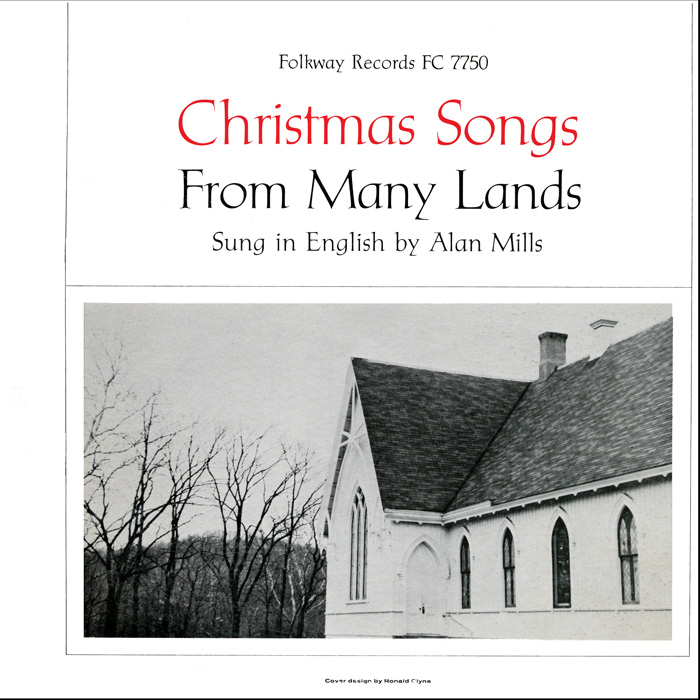 Alan Mills, Christmas Songs from Many Lands (1957), FW07750 / FC 7750.