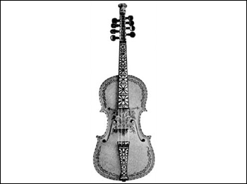 Hardanger fiddles are works of art, with intricately carved animal or human heads at the top of the pegbox, elegant mother of pearl inlays on the fingerboard, and black ink decorations called ''rosing'' on the body of the instrument.