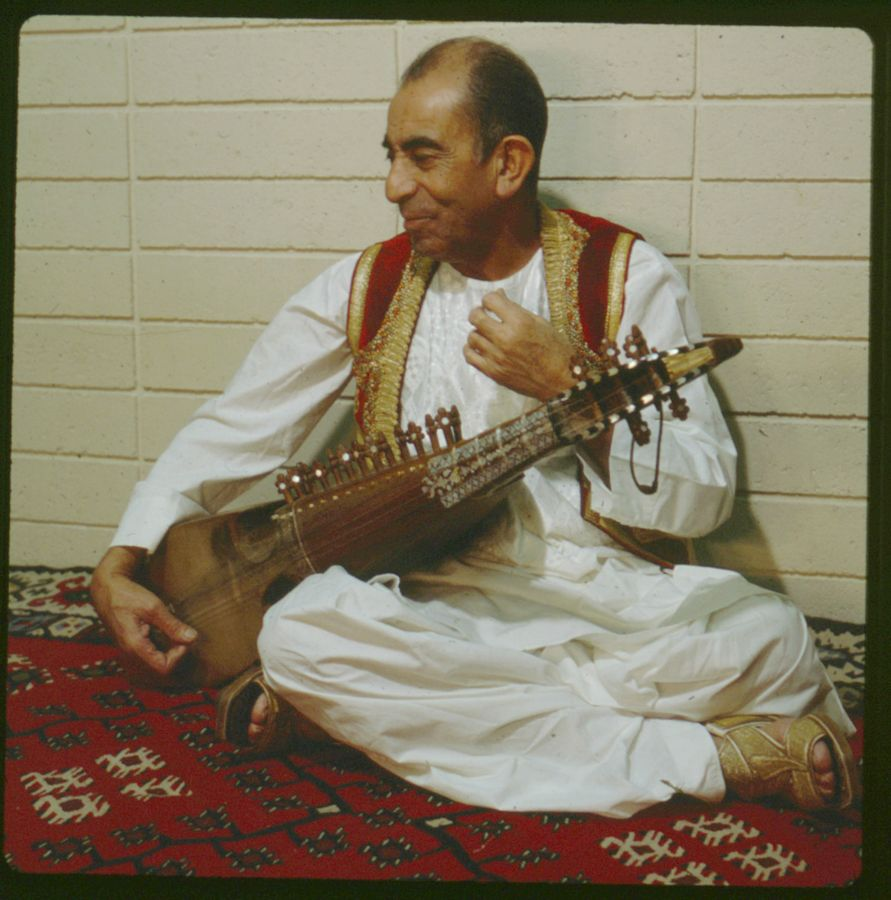 Ustad Mohammad Omar, December, 1974. All photos courtesy of Robert Garfias, Anthropology, UCI.