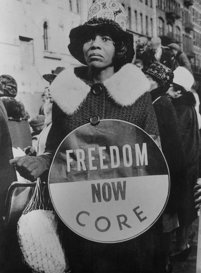 In Harlem, thousands turned out for a march in support of the Selma Civil Rights Movement in March, 1965.