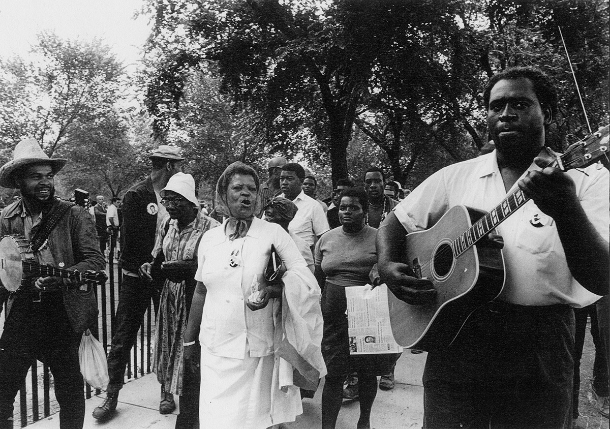 Marchers and singers at the Poor People's Campaign, Washington, D.C., May-June 1968. Jimmy Collier is on the left, and Frederick Douglass Kirkpatrick is on the right.