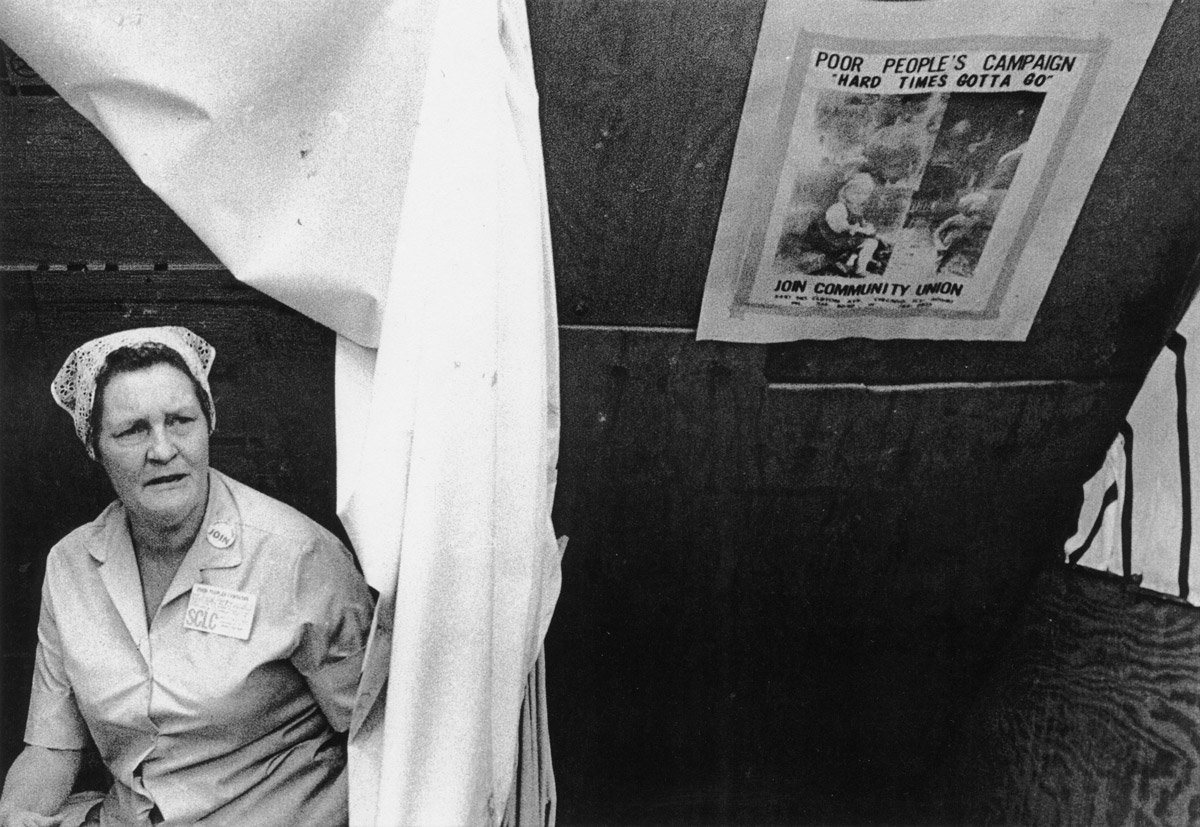 Peggy Terry, Chicago organizer originally from Appalachia, at the Poor People's Campaign in Washington, D.C., May-June 1968.