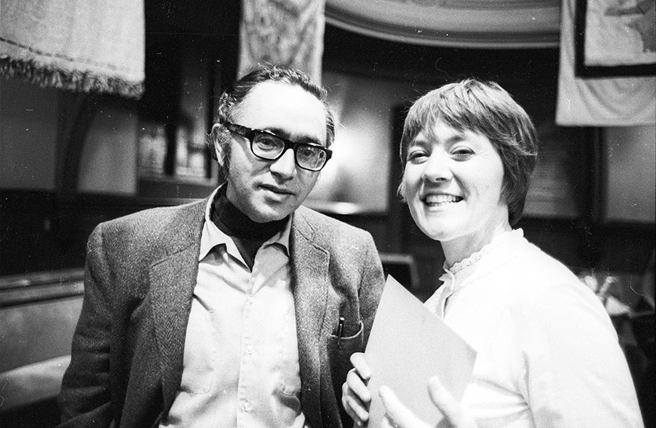Paredon Records founders Irwin Silber and Barbara Dane
