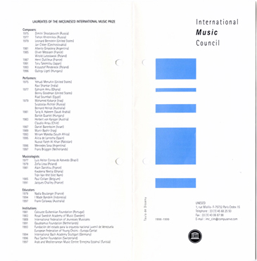 Image. Depiction of 1998-1999 pamphlet with lists of names