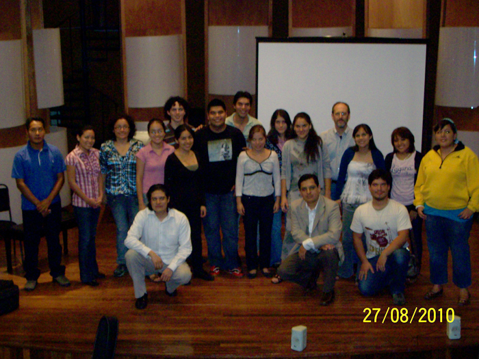 Workshop participants at Universidad Veracruzana